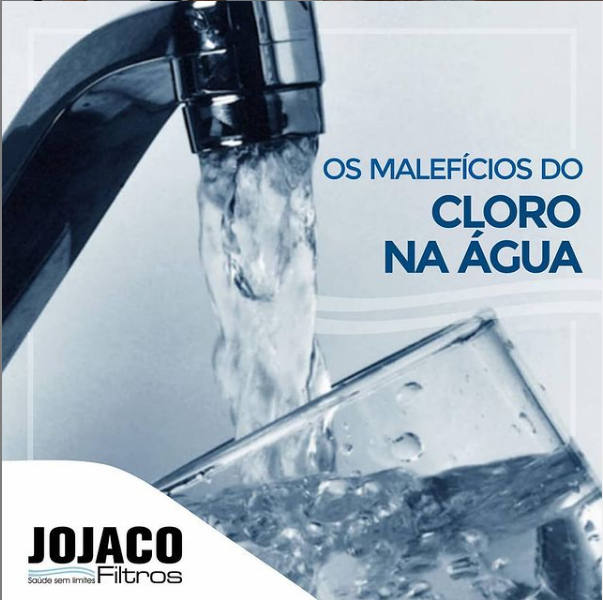 Excesso de cloro na água